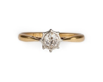 A  Solitaire Diamond Ring 0.35ct