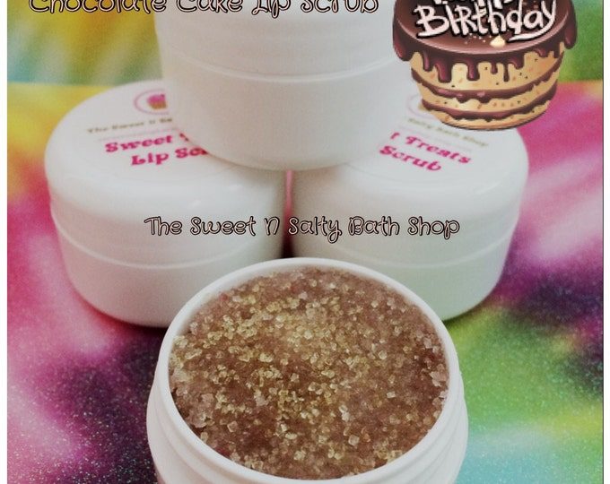 Chocolate Cake Flavored Lip Scrub