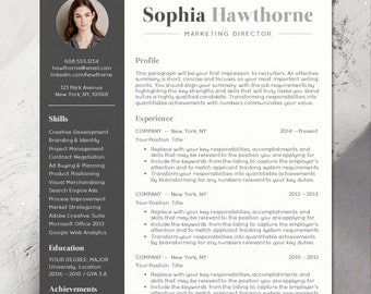 Resume Template With Photo   Professional, Modern, CV, Word, Mac Or PC
