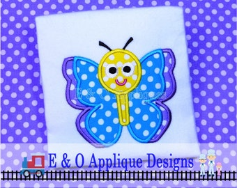 Butterfly Digital Machine Applique Design - Butterfly Embroidery Design - 4 Sizes