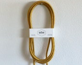Cloth Covered Industrial Extension Cord - Gold Rayon