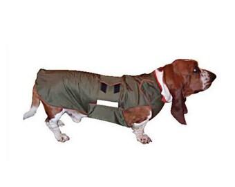 Basset Hound Winter Dog Coat - Dog jacket with underbelly protection - Winter coat - Custom made Dog Raincoat - Custom made for your dog