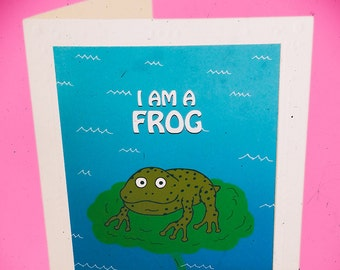 Dirty Frog DTF, funny handmade adult greeting card