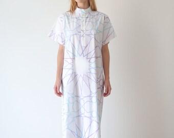 White kaftan dress, maxi kaftan dress, galabeya loose fit dress, summer dress