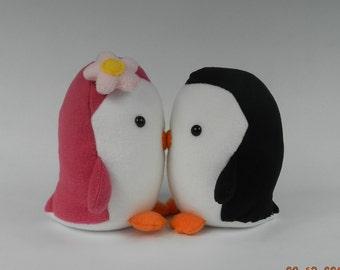 Kissing Penguin Stuffed Animals, Penguin Stuffed Toy, Penguin Plushie, Kissing Penguin Plush Toy,