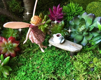 fairy garden coffee, miniature coffee cup, mini coffee, fairy garden coffee cup, miniature coffee cup, dollhouse coffee, dollhouse drink