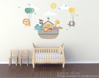 Noahu0027s Ark Wall Decal, Wall Decals Nursery, Wall Decal Nursery, Balloon Wall  Decal Part 82