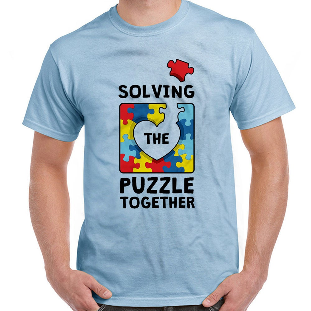 Autism awareness shirt solving the puzzle together autism t for Shirts that donate to charity