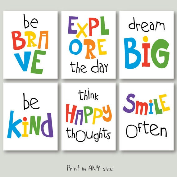 Inspirational Quotes For Kids: Motivational Quotes For Kids Download Playroom Quote Poster