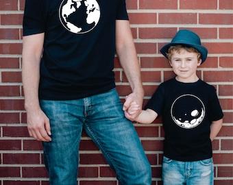 matching father and child shirts, father's day gift from son, father son, father daughter, father baby, matching shirts, tshirt set