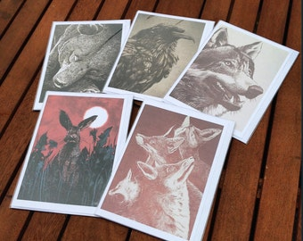 Where The Wild Things Are Drawn - 'Noble beasts' card set