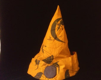 Antique Halloween Fabric Hat