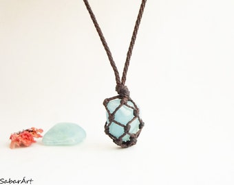 Aquamarine necklace, Aquamarine pendant, Aquamarine jewelry, pale blue, chakra necklace, natural crystals, sea lover, sea blue, blue sky