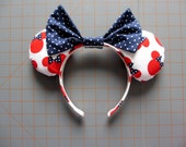 Minnie Mouse Red Print Mouse Ears Headband