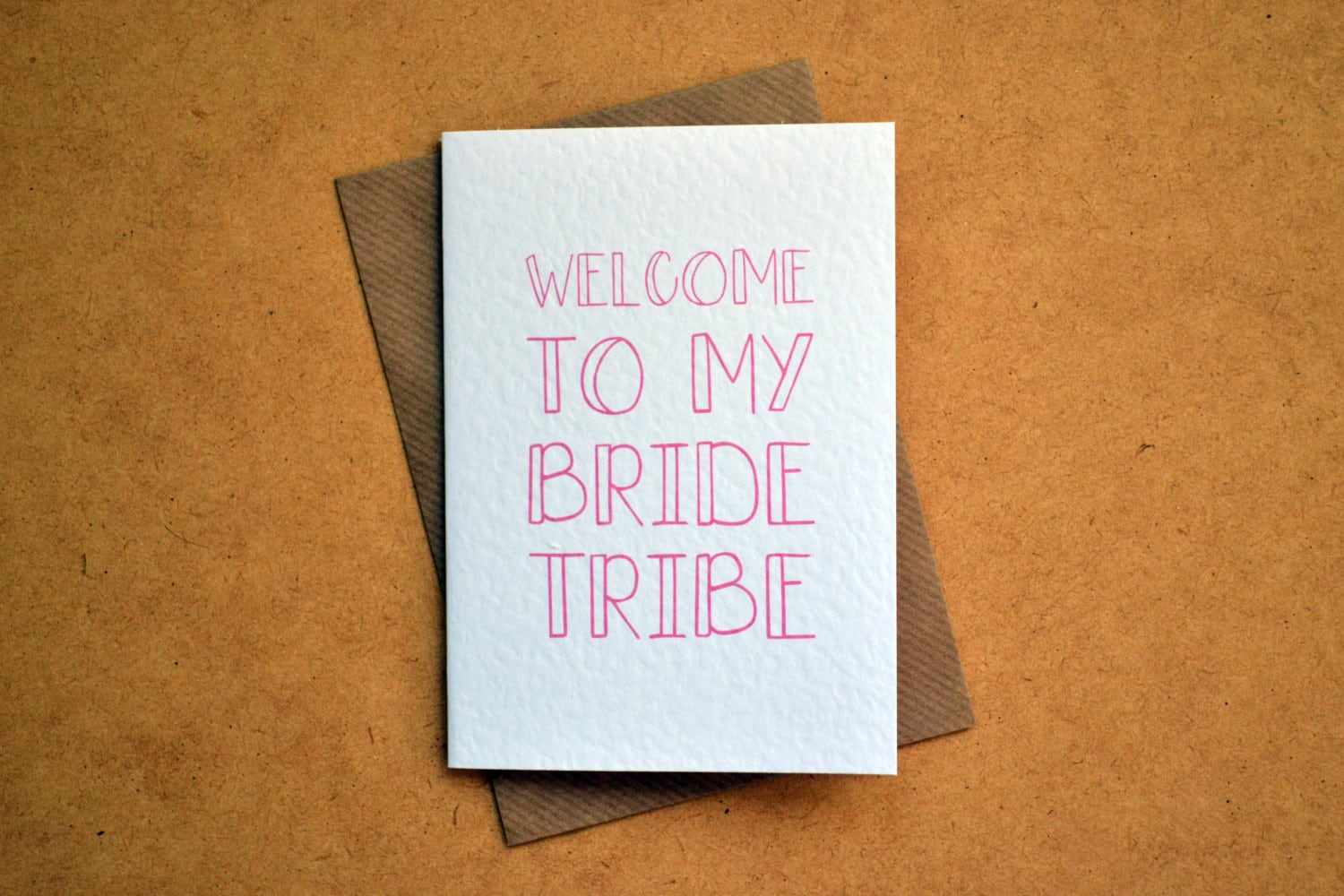Wedding Greetings Card Welcome To My Bride Tribe For Bridesmaid