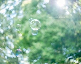 Bubbles. Home Art. Home Decor. Nature. Peaceful art. Fine art. Bokeh