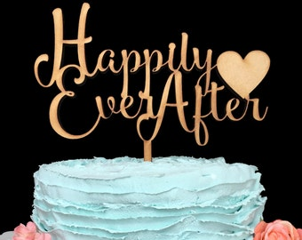 Happily Ever After Wedding Cake Topper, Cake Topper Wedding Wedding Cake Topper, Cake Topper, Custom Cake Topper, Happily Ever After, Decor