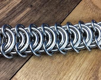 Vertebrae Stainless Steel Chainmaille Bracelet