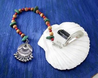 Pirate hair beads/pirate costume/long hair beads/dreadlock beads/Jack Sparrow Wig Beads/repurposed antique beads