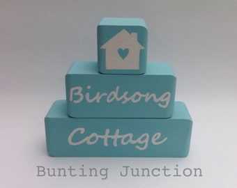 Personalised New home wedding wooden stacking set