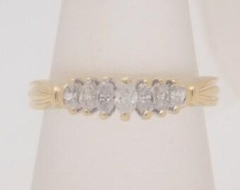 0.50 Carat .T.W. Ladies Marquise Cut Diamond Band 14K