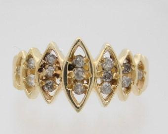 0.34 Carat T.W. Ladies Round Cut Diamond Band 14K Gold