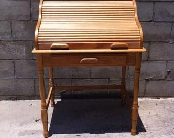 Desk,Vintage Desk,Computer Desk,Writing Desk,Home Office Desk,Office Desk,Wood Desk,Large Desk,Tall Desk,Shabby Chic Desk,Roll Top Desk