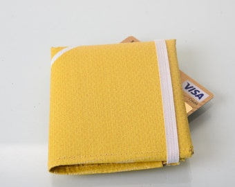 Yellow Trifold Wallet repurposed  from london 2012 Olympic banner