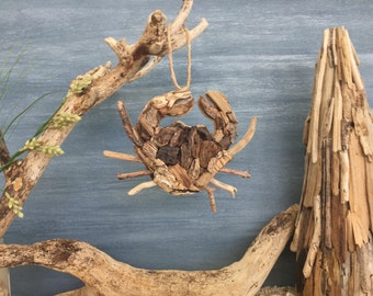 Driftwood Crab  / Small Coastal Decor / Ornament