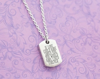 Silver Stainless Dogtag Memorial Pendant - Cremation Jewelry - Engraved Jewelry - Urn Necklace - Pet Memorial - Ash Necklace