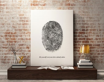 Fingerprint art quote prints - Printable Motivational Print, Fashion Print, Inspirational quote, Typography, Office Print wall decor