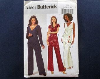 Asymmetrical Tunic & Pants Uncut Pattern, Butterick 4604, Size 8, 10, 12, 14, Bust 31, 32, 34, 36