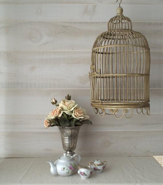 shabby chic bird cage decorative hanging bird cage vintage. Black Bedroom Furniture Sets. Home Design Ideas