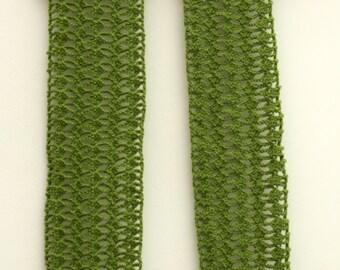 Handmade Crochet Scarf - Olive Green