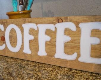COFFEE - 8 x 24 Wood Sign
