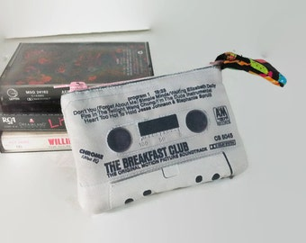 Breakfast Club Movie Soundtrack Mini Cassette Tape Clutch Change Purse Wallet