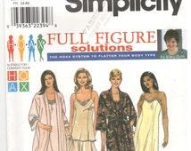 Simplicity 8486 Size 26w, 28w, 30w, 32w Women's plus size sewing pattern: nightgown / pajamas, robe / dressing gown, slip dress, Mary Duffy