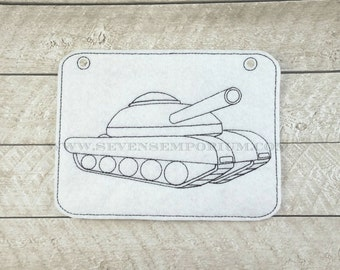 Military Tank Vehicle In The Hoop Doodle-It Coloring Page Machine Embroidery Designs