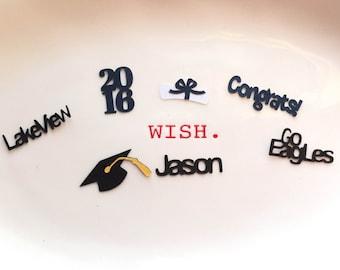 Personalized Graduation Table Confetti, Invitation Filler
