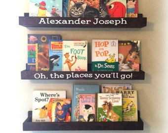 Nursery Bookshelf - Book Station - Children's Bookshelf - Floating Book Ledge - Personalized Bookshelf - Magazine rack - Picture Ledge