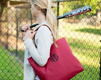Monogrammed Bag, Garnet Tote Bag, Burgundy Tote Bag, Personalized Bag, Embroidered Monogrammed Tote Bag, Monogrammed Gifts, Bridesmaid Gift