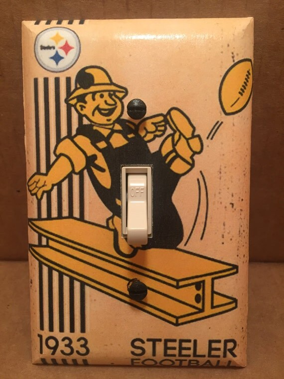 Pittsburgh Steelers Light Switch Cover Handmade Sports