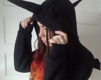 Black dragon hoodie (sizes in pictures)
