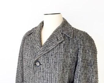 1950s Tweed Coat / 1950s Overcoat / Tweed Overcoat / Overcoat / 1950s / Wool Tweed / Medium-Large