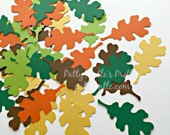 Oak Leaves Die Cuts, Oak Leaf Confetti, Fall Embellishment