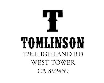 Embosser - Return Address Custom Embossing Seal - Personalized Embosser - Tomlinson Address Embosser - Housewarming Gift