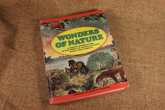 Hardcover Book, 1974 Edition, Wonders of Nature, Nature Pictorial, Parents Magazine, Children's Text Book, Flora and Fauna Book, Over Sized