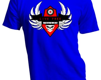 Live Free Motor Cycle T Shirt