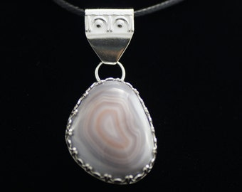 Sterling Silver Agate Pendant