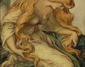 "Frederick Shields ""Mary Magdalene"" c1877 Reproduction Digital Print Jesus Spirituality Religion Christianity"